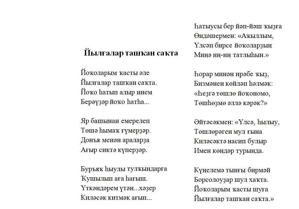Поздравления на татарском языке на последний звонок